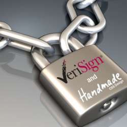 Image of Verisign and Handmade CSS Design